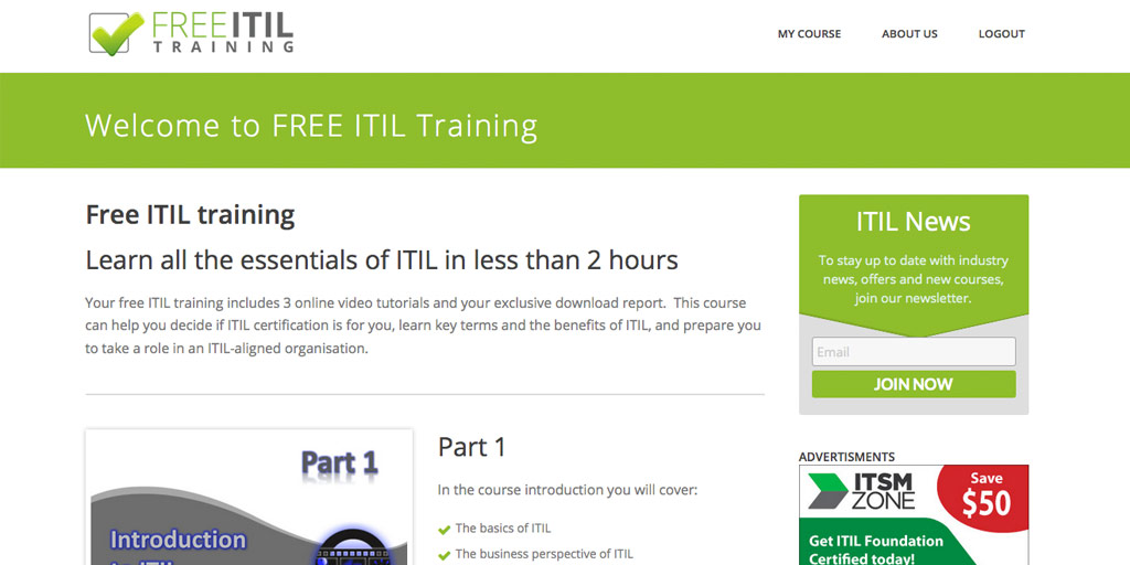 Free Itil Training Online Videos And Pdf Guide
